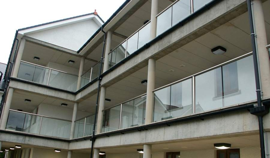 Glass Balustrades on apartments