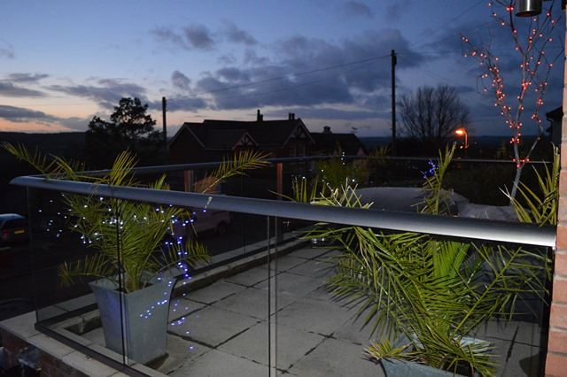 glass balustrade in Ledbury