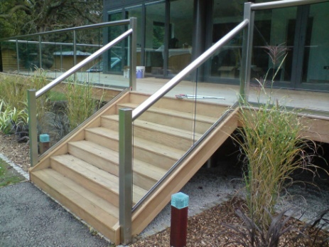 glass stair handrails 16113.3