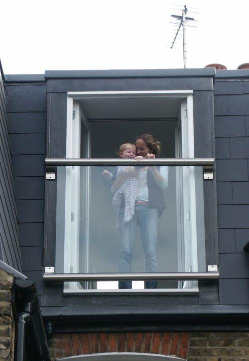Dormer balcony juliet balcony glass juliette balconies for Balcony company
