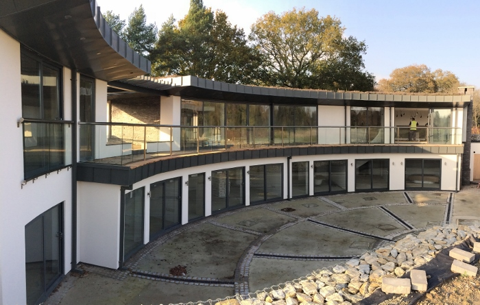 Curved Balustrade and Doors in Sussex