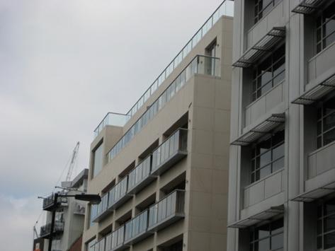 Glass balconies in london