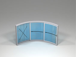 Curved Glass Sliding Doors - W3F