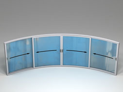 Curved Glass Sliding Doors - W4