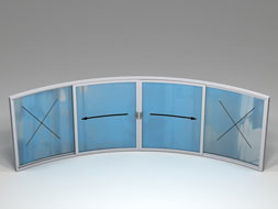 Curved Glass Sliding Doors - W4F