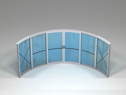 Curved Glass Sliding Doors - W6F