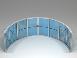 Curved Glass Sliding Doors - W8-4F