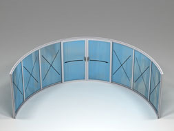 Curved Glass Sliding Doors - W8-6F
