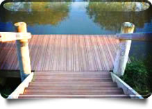 Slip-free Composite Decking for jetties and docks
