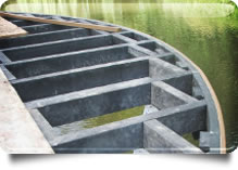 Composite Decking water resistant subframe